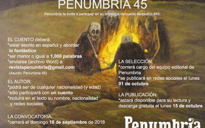 CONVOCATORIA – PENUMBRIA 45