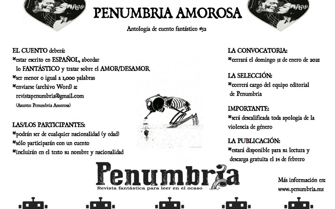 CONVOCATORIA – PENUMBRIA AMOROSA